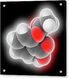 Aspirin Drug Molecule Acrylic Print by Laguna Design