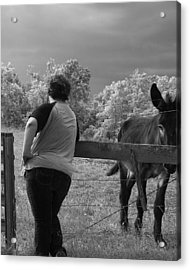 Ass Acrylic Print by Mary Ely