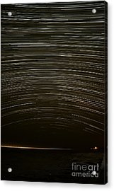 Assateague Star Trails Acrylic Print by Benjamin Reed