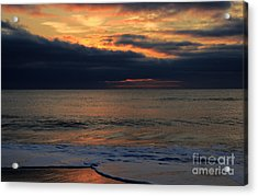 Assateague Sunrise Acrylic Print by Robert Pilkington