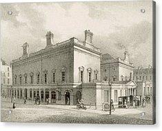 Assembly Rooms, Bath, Circa 1883 Acrylic Print by R Woodroffe