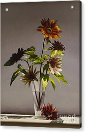 Assorted Sunflowers Acrylic Print by Larry Preston