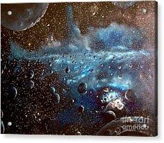 Asteroid Field Acrylic Print by Murphy Elliott