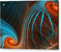 Astonished-fractal Art Acrylic Print by Lourry Legarde