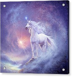 Astral Unicorn Acrylic Print by Steve Read