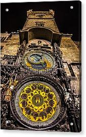 Astronomical Clock Acrylic Print by Matthew Gulosh