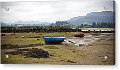 Asturias Seascape With Boats Acrylic Print by Frank Tschakert