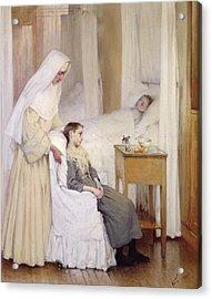 At Notre-dame Du Perpetuel Bon Secours Hospital Acrylic Print by Henri Jules Jean Geoffroy