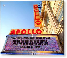 At The Apollo Acrylic Print by Ed Weidman