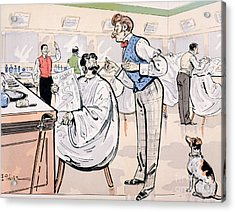 At The Barber And Reading Le Jockey Acrylic Print by Thelem