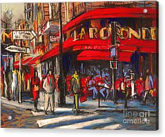 At The Cafe De La Rotonde Paris Acrylic Print by Mona Edulesco