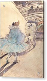 At The Circus Entering The Ring Acrylic Print by Henri de Toulouse Lautrec