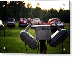 At The Drive-in - Before The Show Acrylic Print by Greg Simmons