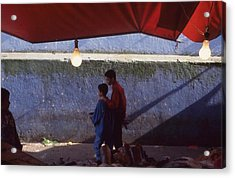 At The Fish Market Casablanca 1996 Acrylic Print by Rolf Ashby