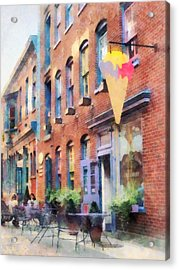At The Ice Cream Parlor Easton Pa Acrylic Print by Susan Savad