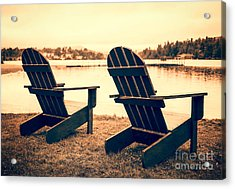 At The Lake Acrylic Print by Edward Fielding