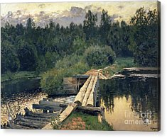 At The Shallow Acrylic Print by Isaak Ilyich Levitan