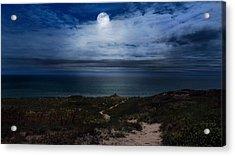 Atlantic Moon Acrylic Print by Bill Wakeley