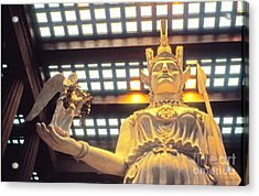 Athena And Nike Sculpture Acrylic Print by Jerry Grissom