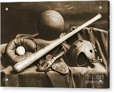 Athletic Equipment 1940 Acrylic Print by Padre Art