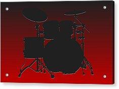 Atlanta Falcons Drum Set Acrylic Print by Joe Hamilton