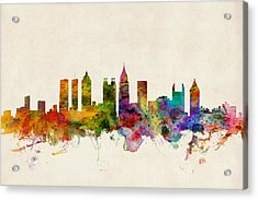 Atlanta Georgia Skyline Acrylic Print by Michael Tompsett