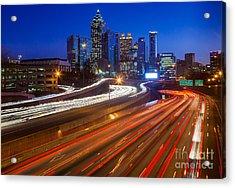 Atlanta Interstate I-85 By Night Acrylic Print by Inge Johnsson