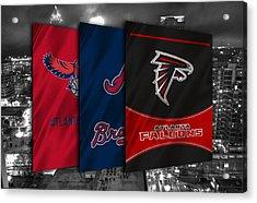 Atlanta Sports Teams Acrylic Print by Joe Hamilton