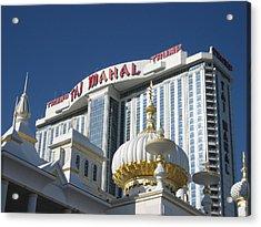 Atlantic City - Trump Taj Mahal Casino - 12122 Acrylic Print by DC Photographer