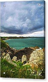 Atlantic Coastline In Brittany Acrylic Print by Elena Elisseeva