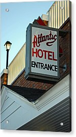 Atlantic Hotel Acrylic Print by Skip Willits