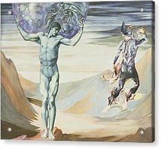 Atlas Turned To Stone, C.1876 Acrylic Print by Sir Edward Coley Burne-Jones