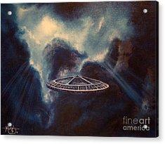 Atmospheric Arrival Acrylic Print by Murphy Elliott