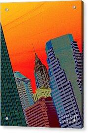 Atomic Skyline Acrylic Print by Andy Heavens