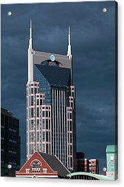 At&t Building Acrylic Print by Carol M. Highsmith Archive, Library Of Congress