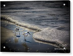 Attack Of The Sea Foam Acrylic Print by Marvin Spates