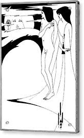 Aubrey Beardsley Woman In The Moon Acrylic Print by