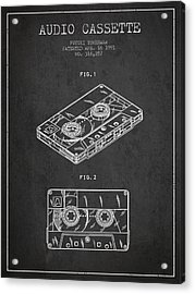 Audio Cassette Patent From 1991 - Dark Acrylic Print by Aged Pixel