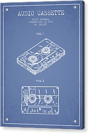 Audio Cassette Patent From 1991 - Light Blue Acrylic Print by Aged Pixel