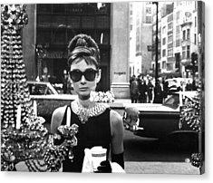 Audrey Hepburn Breakfast At Tiffany's Acrylic Print by Nomad Art