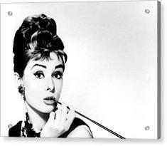 Audrey Hepburn Acrylic Print by Csongor Licskai