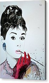 Audrey Hepburn - Original Acrylic Print by Ismeta Gruenwald