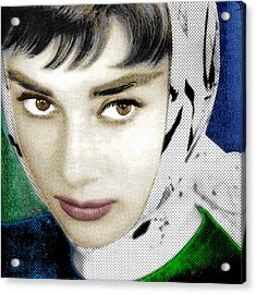 Audrey Hepburn Acrylic Print by Tony Rubino