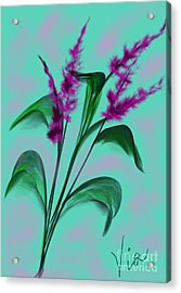 August Bouquet Acrylic Print by Judy Via-Wolff