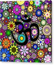 Aum Flowers Acrylic Print by Tim Gainey