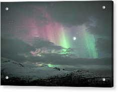 Aurora Borealis And Jupiter Acrylic Print by Tommy Eliassen
