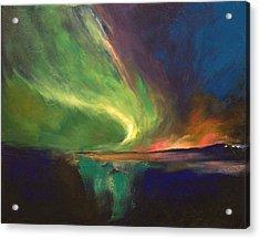 Aurora Borealis Acrylic Print by Michael Creese