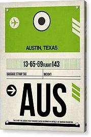 Austin Airport Poster 1 Acrylic Print by Naxart Studio