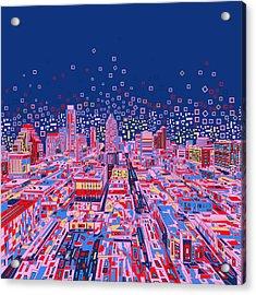Austin Texas Abstract Panorama Acrylic Print by Bekim Art