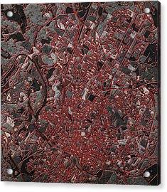 Austin Texas Map 3 Acrylic Print by Bekim Art
